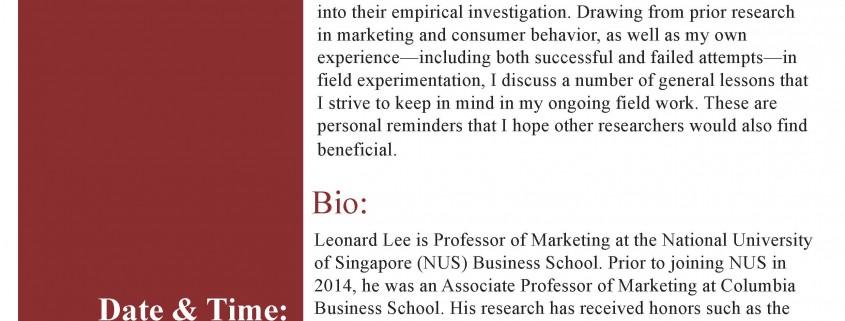 BTM Seminar Leonard Lee
